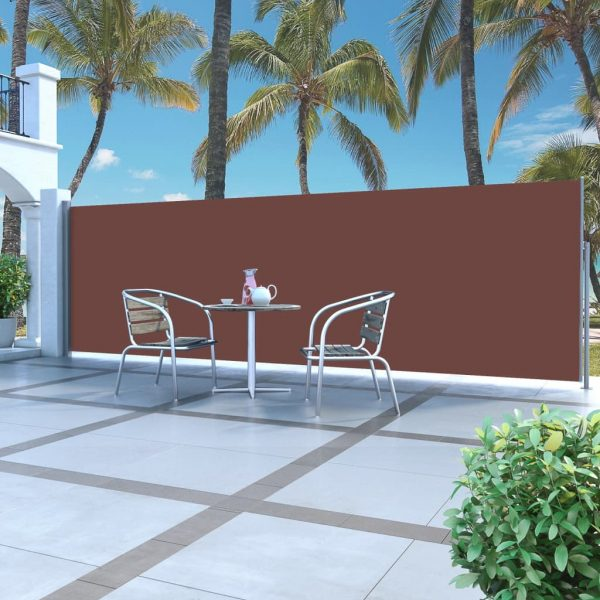 Retractable Side Awning 160 x 500 cm Brown 1