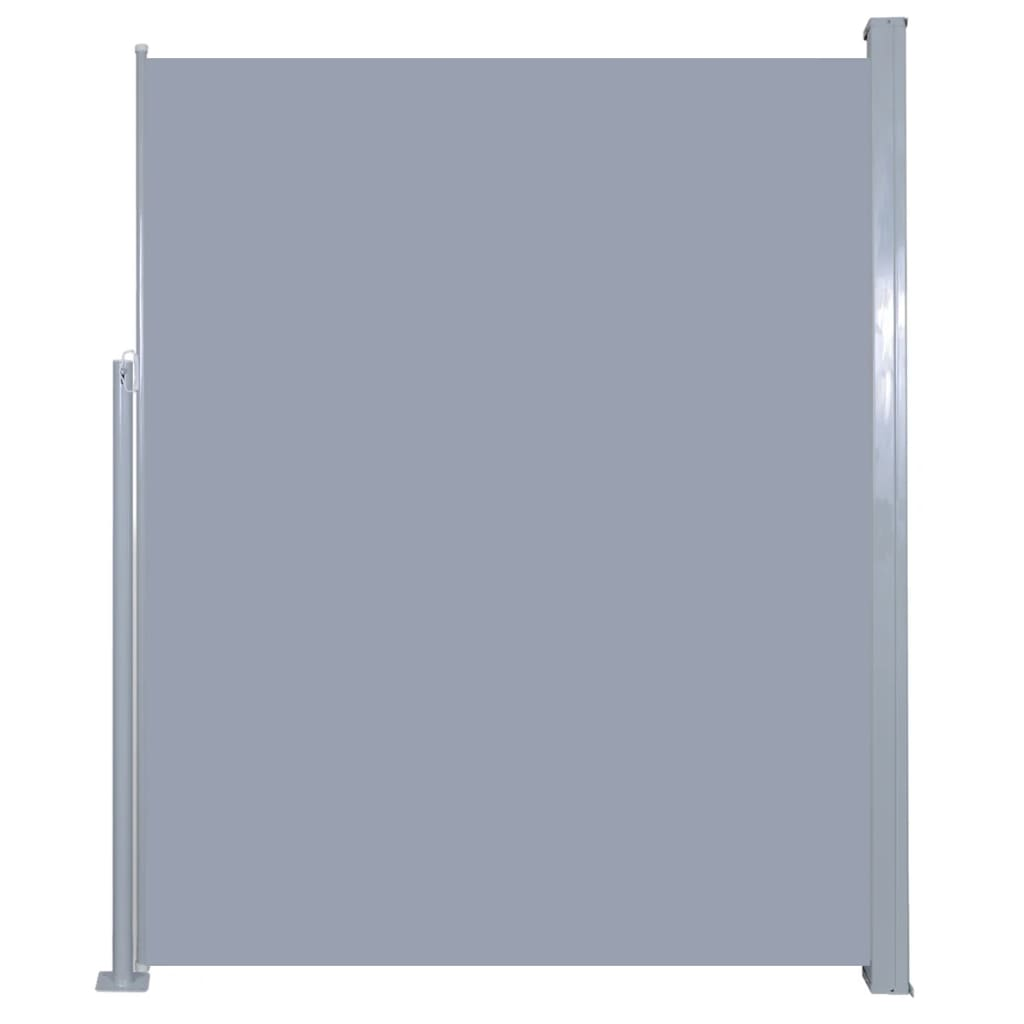 Retractable Side Awning 180 x 500 cm Grey 2