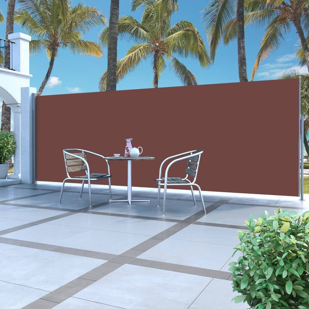 Retractable Side Awning 180 x 500 cm Brown