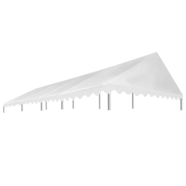 Party Tent Roof 4×8 m White 450 g/m² 1
