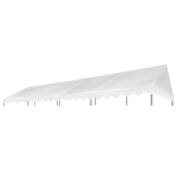 Party Tent Roof 4×8 m White 450 g/m² 2