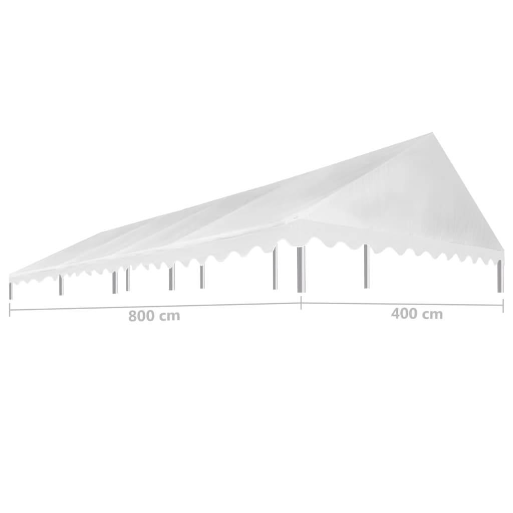 Party Tent Roof 4×8 m White 450 g/m² 3