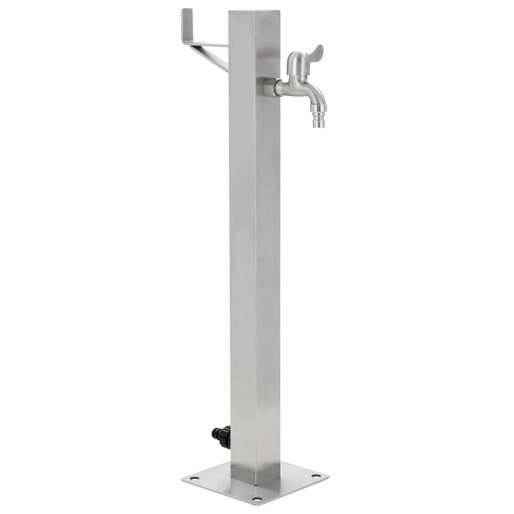Garden Water Column Stainless Steel Square 65 cm 1