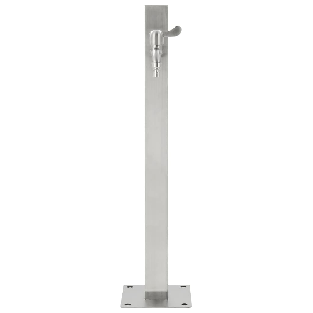 Garden Water Column Stainless Steel Square 65 cm 4