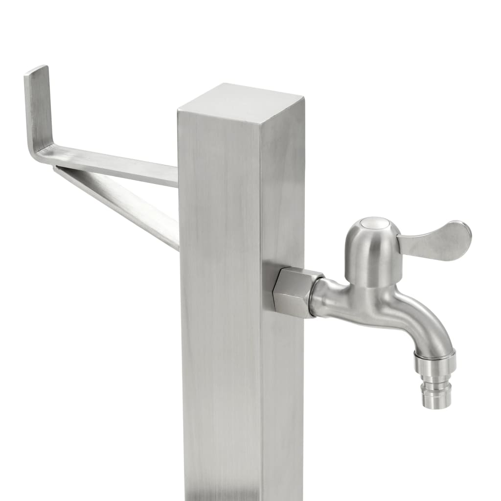 Garden Water Column Stainless Steel Square 65 cm 6
