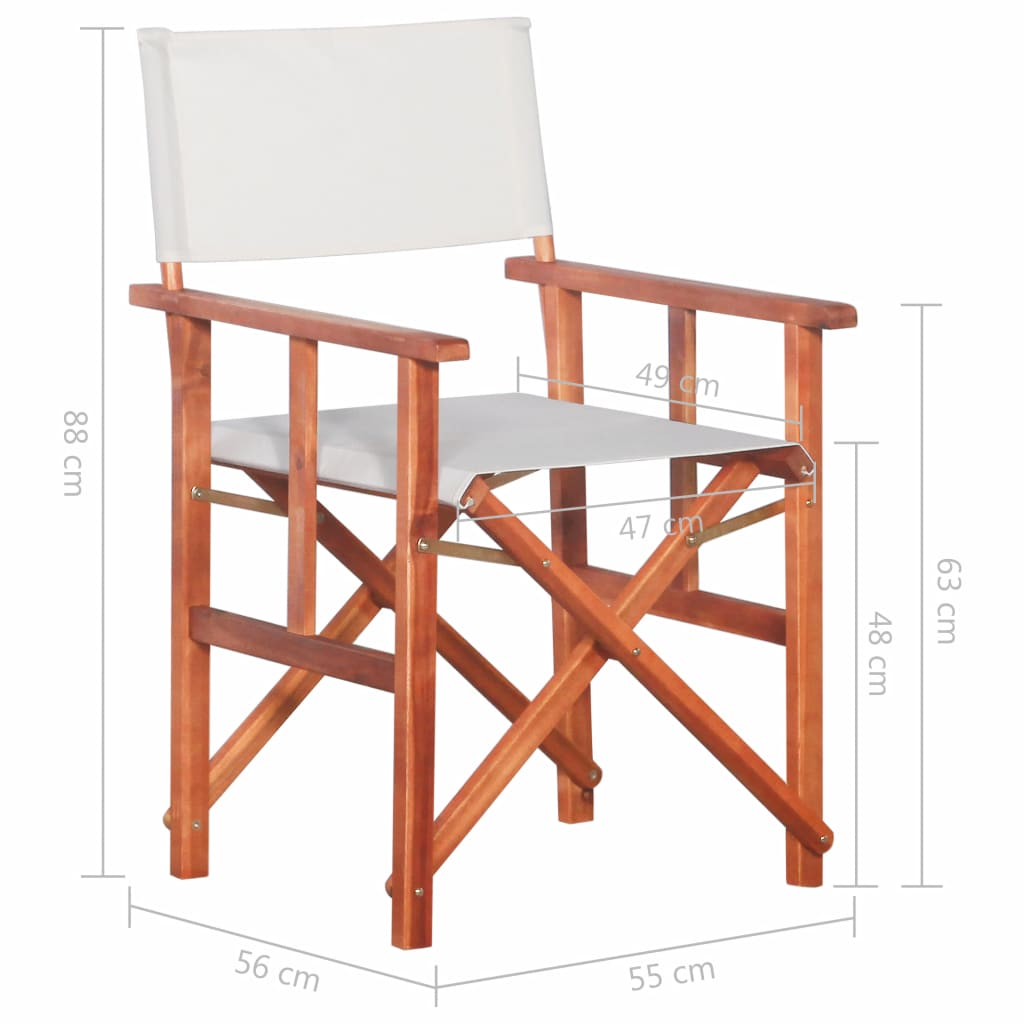 Director's Chair Solid Acacia Wood 9