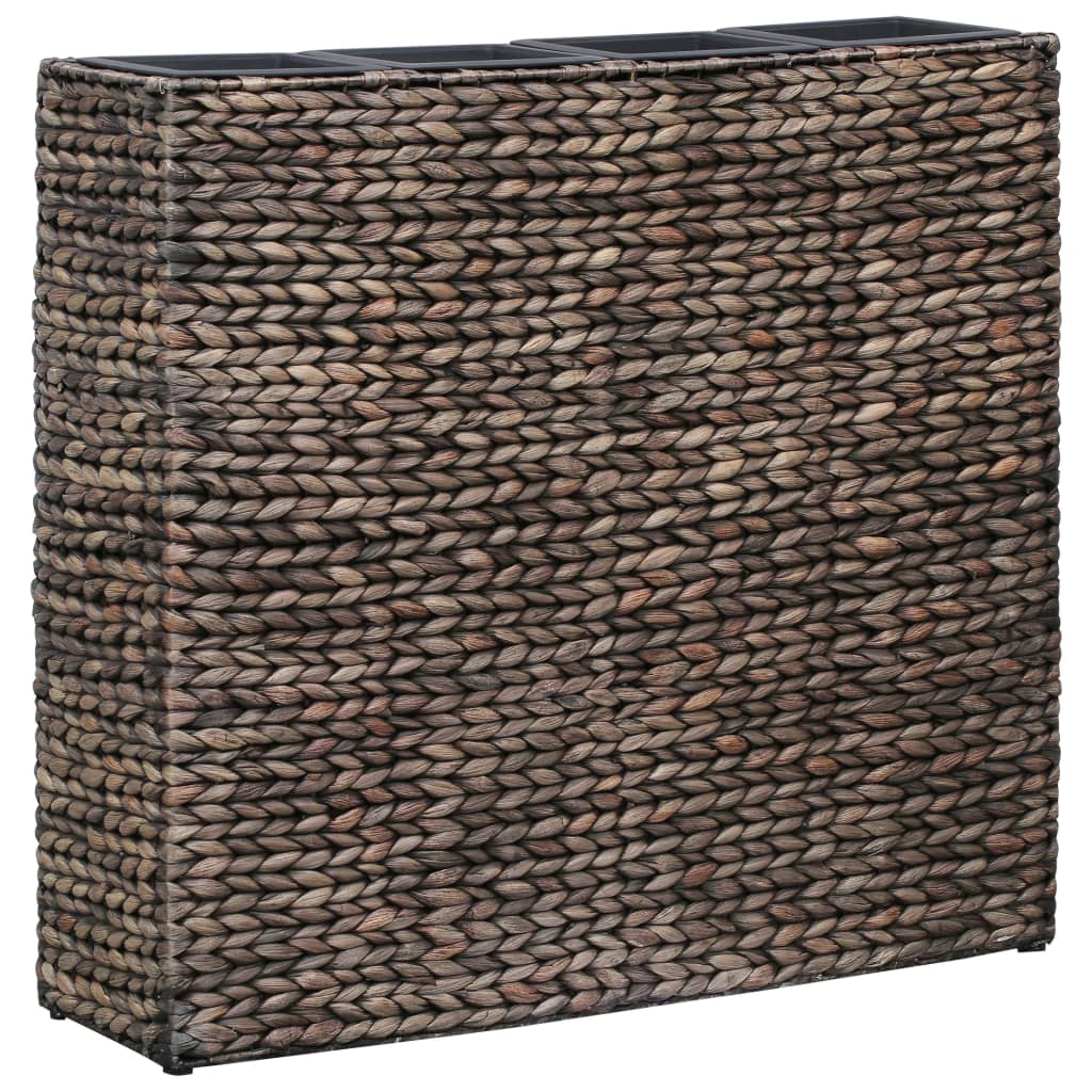 Garden Planter with 4 Pots Water Hyacinth Brown 1