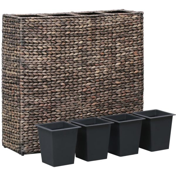 Garden Planter with 4 Pots Water Hyacinth Brown 2