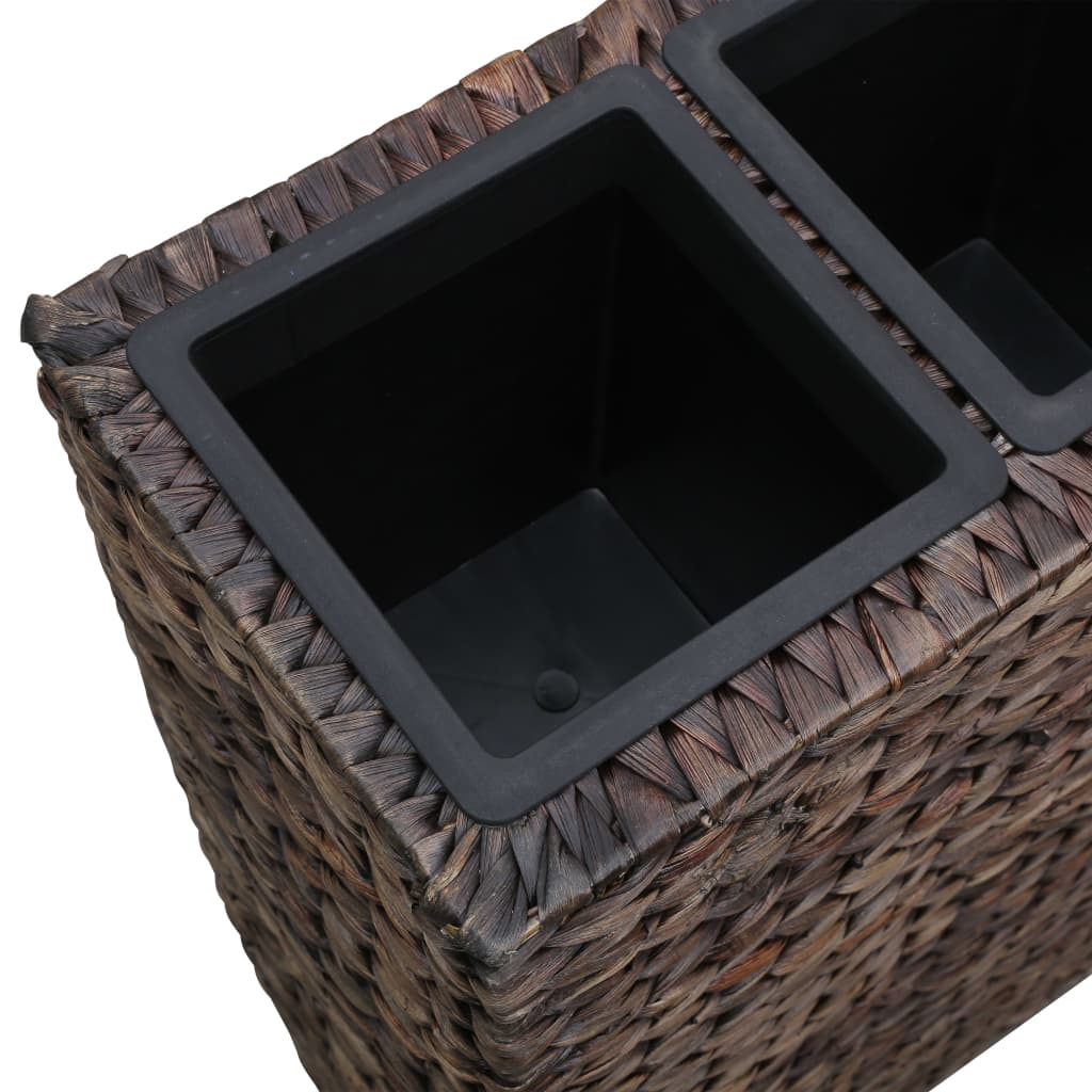 Garden Planter with 4 Pots Water Hyacinth Brown 5