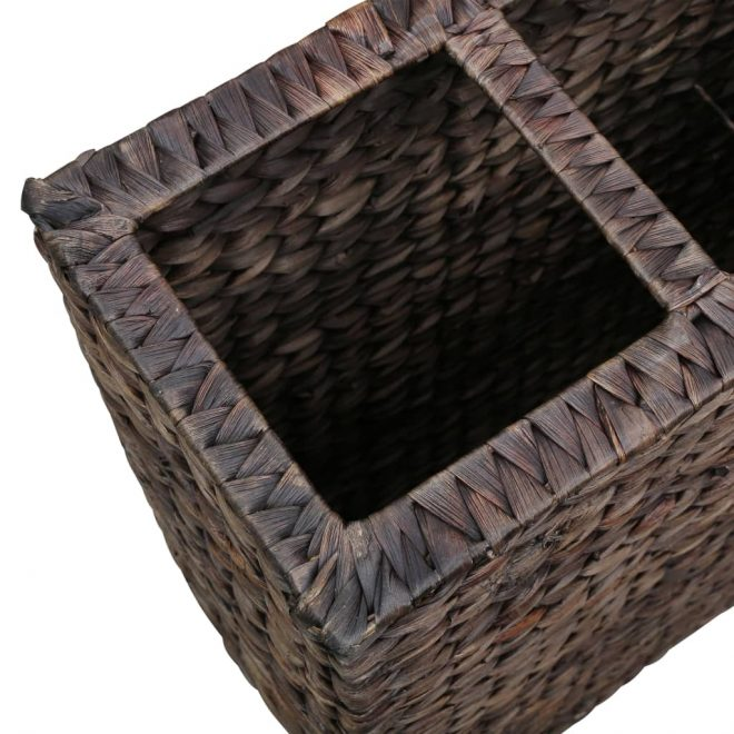 Garden Planter with 4 Pots Water Hyacinth Brown 6