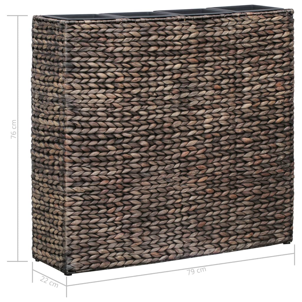 Garden Planter with 4 Pots Water Hyacinth Brown 7