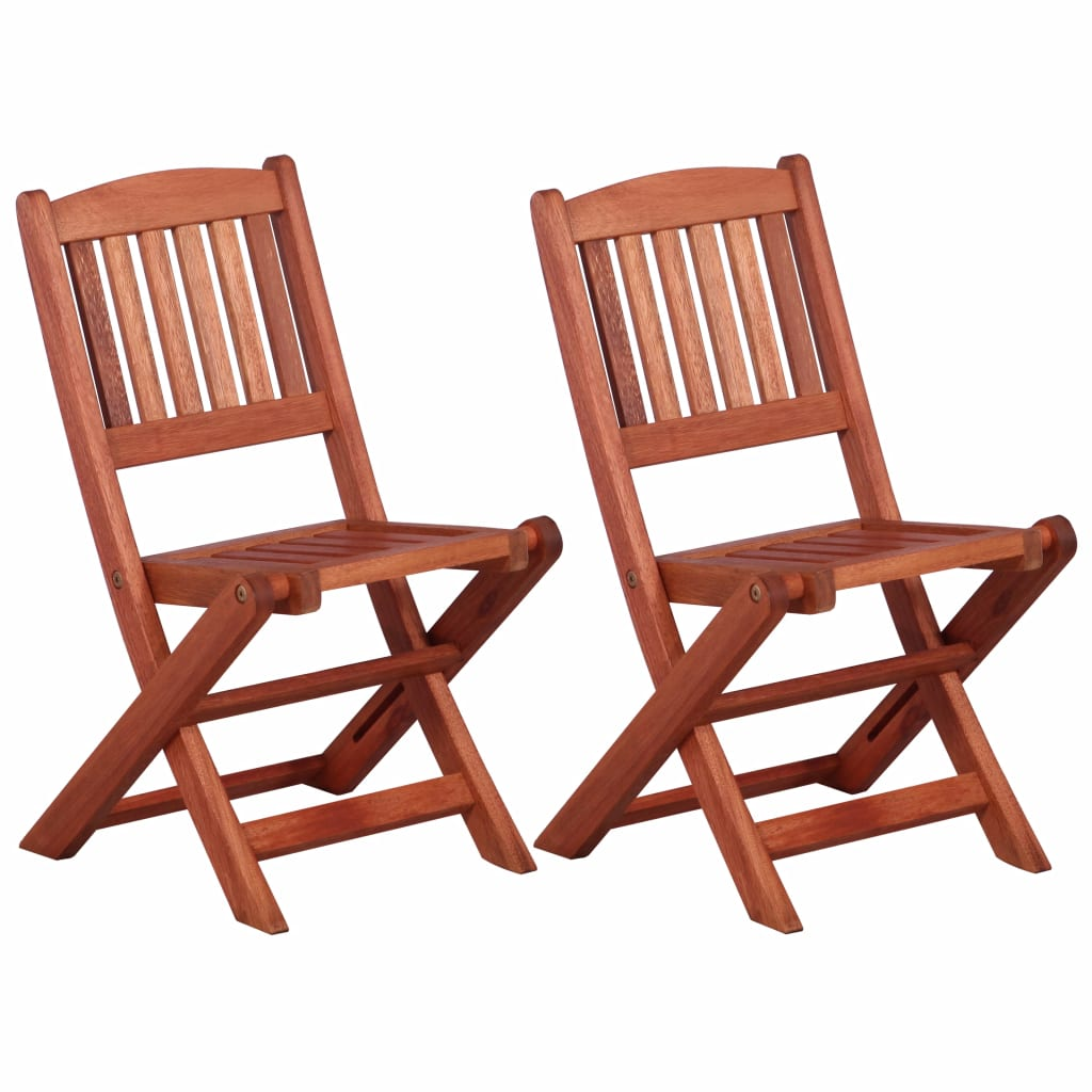 Children's Dining Chairs 2 pcs Solid Eucalyptus Wood 1