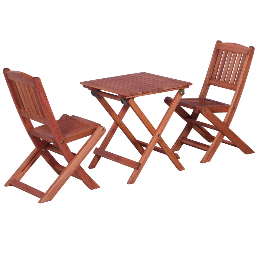 3 Piece Bistro Set for Children Solid Eucalyptus Wood 1