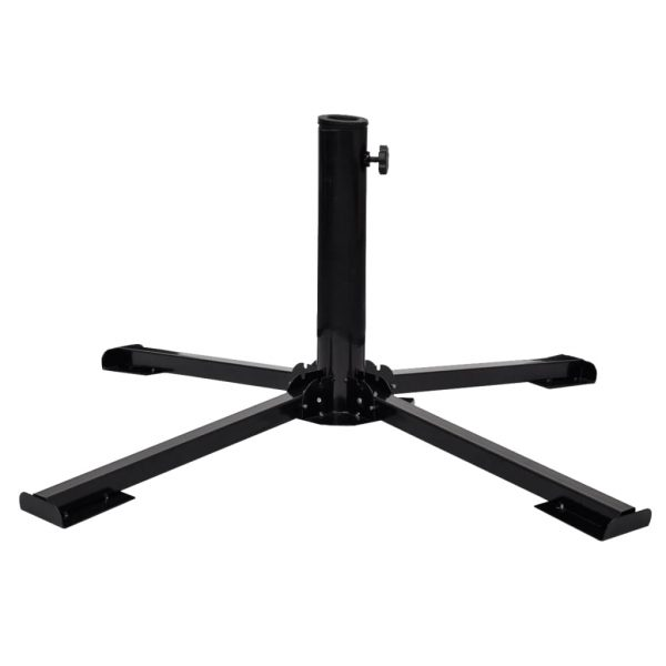 Umbrella Stand with Weight Plates Black 3