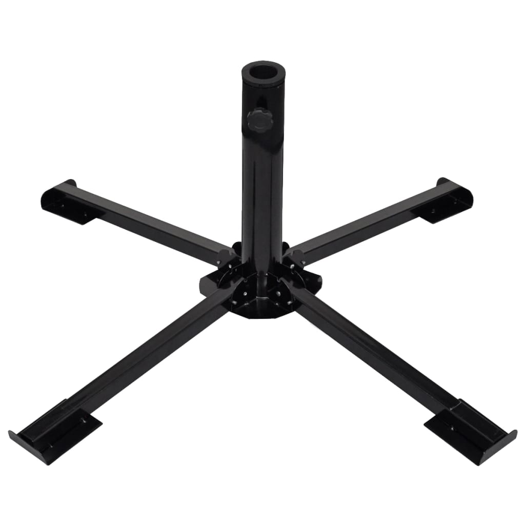 Umbrella Stand with Weight Plates Black 4