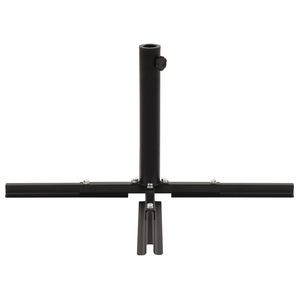 Umbrella Stand with Weight Plates Black 5
