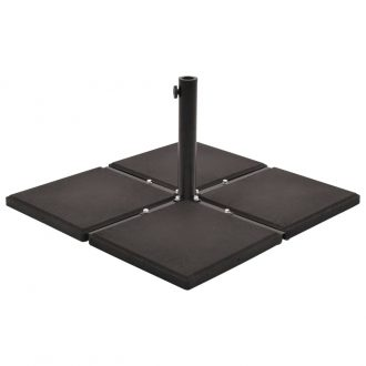 Umbrella Stand with Weight Plates Black 1