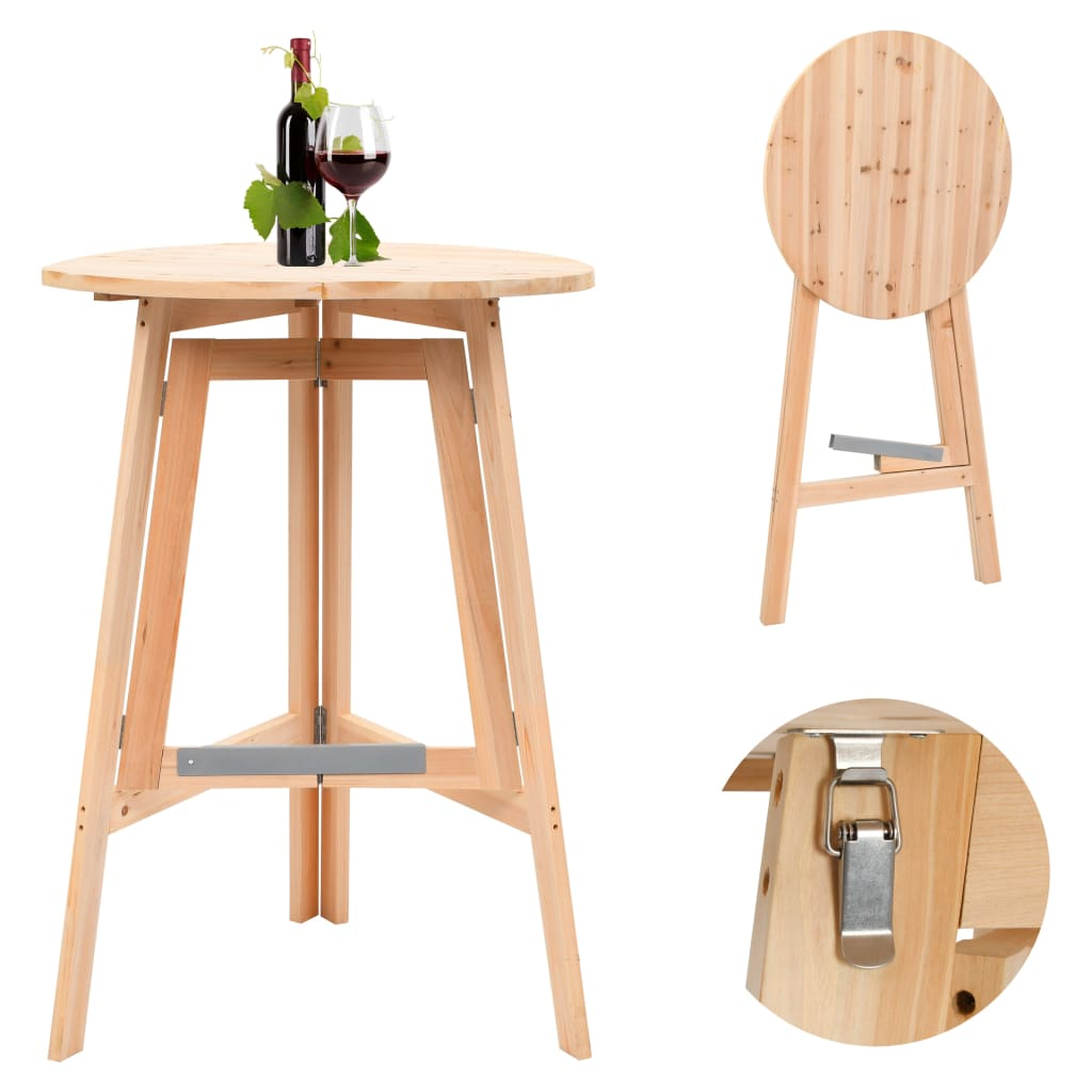 Foldable Bar Table 78 cm Fir Wood 1