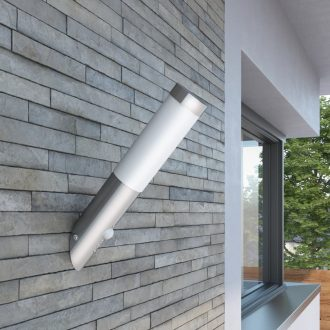 RVS Gardenlamp Wall Lamp Waterproof with Motion Detector 1