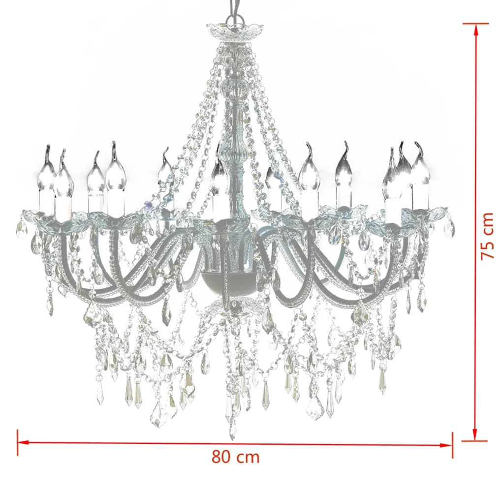 Chandelier with 1600 Crystals 8