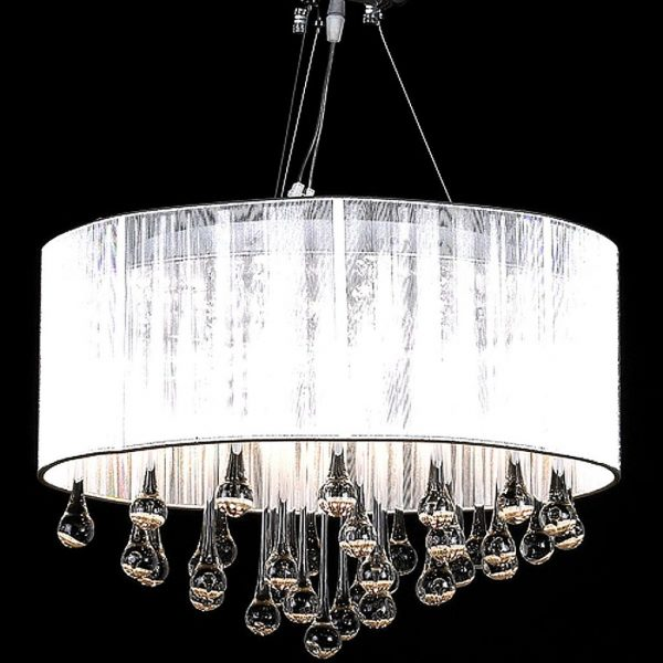 Chandelier with 85 Crystals White 1