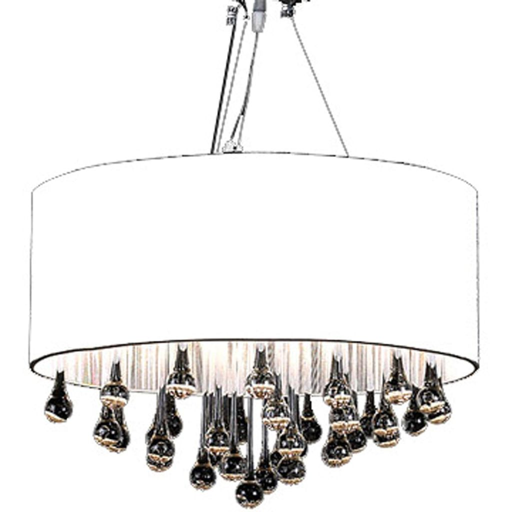 Chandelier with 85 Crystals White 3