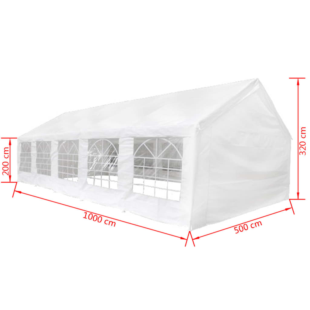 Party Tent 10 x 5 m White 6