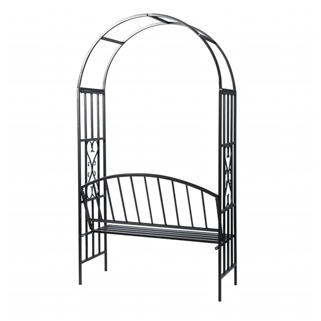 Garden Rose Arch with Bench 3