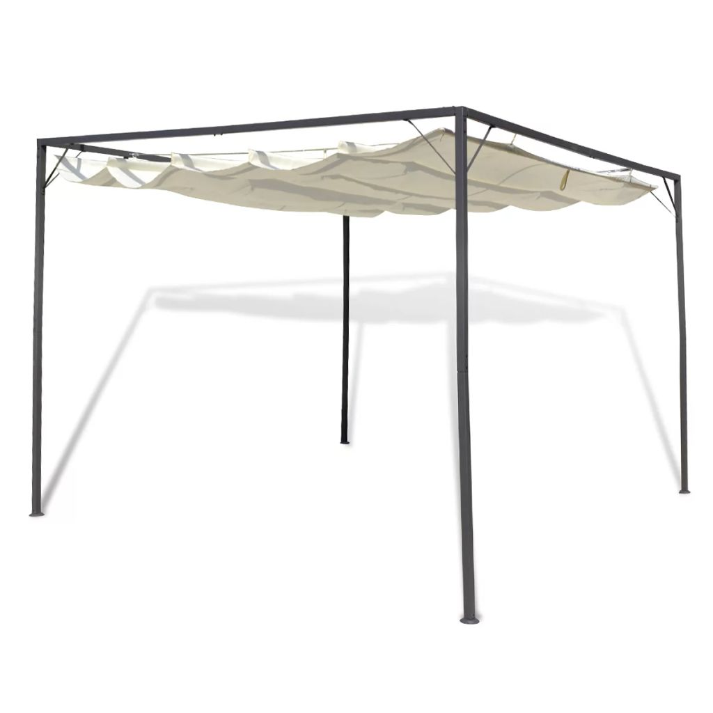 Garden Gazebo with Retractable Roof Canopy 1