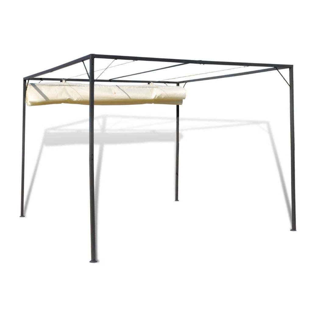 Garden Gazebo with Retractable Roof Canopy 4