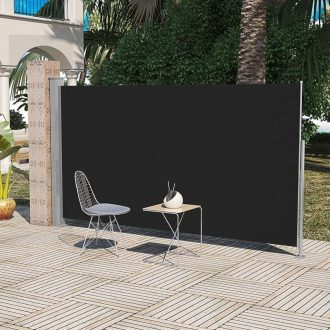 Patio Terrace Side awning 160 x 300 cm Black 1