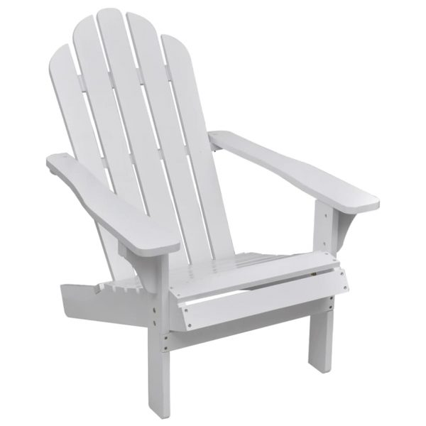 Garden Chair Wood White 1
