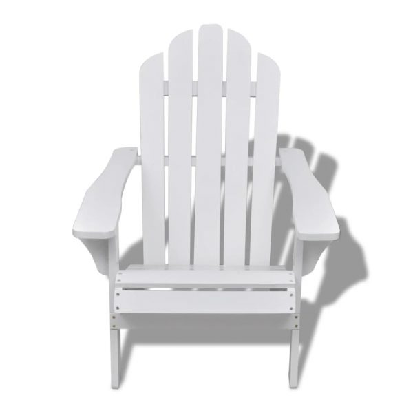 Garden Chair Wood White 2