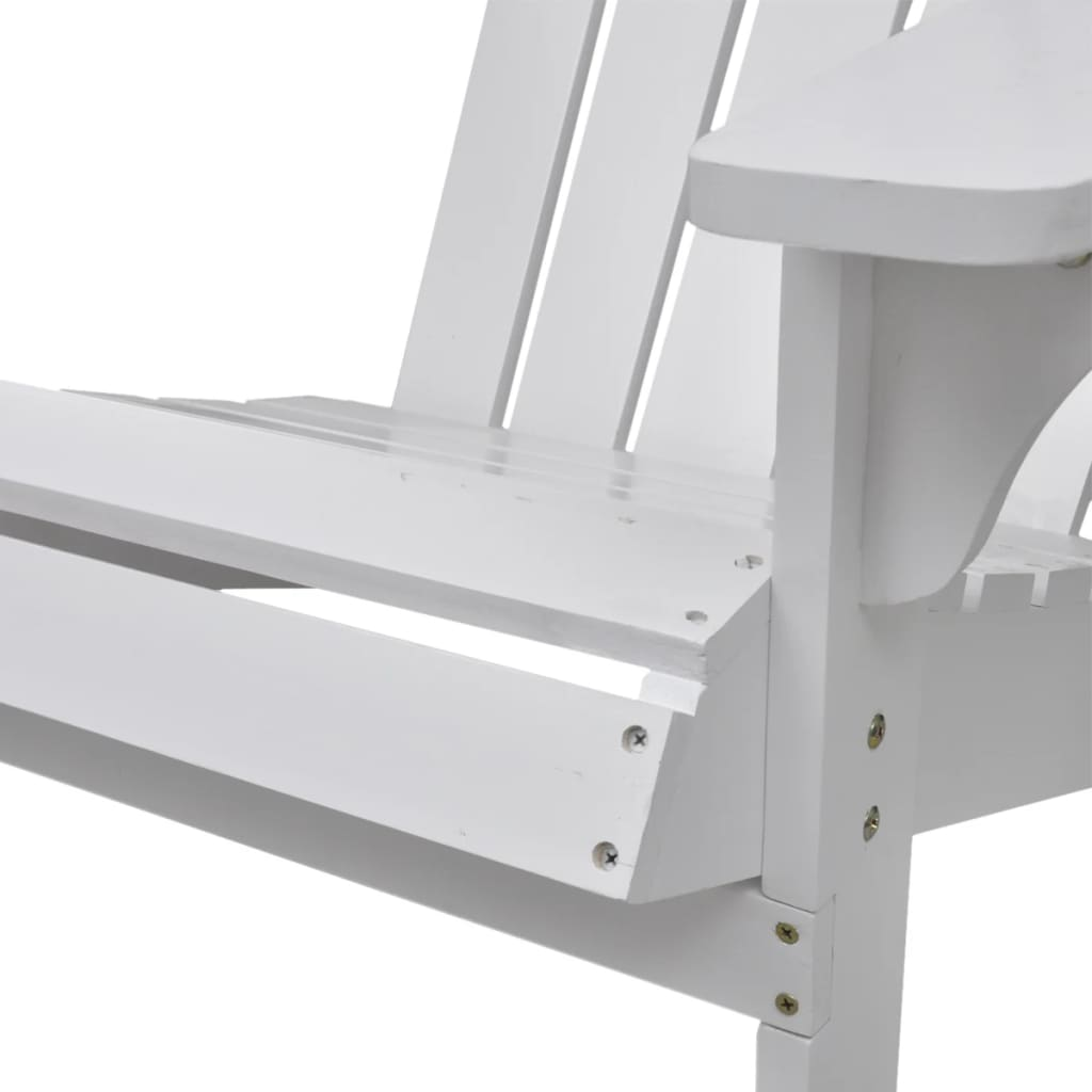 Garden Chair Wood White 4