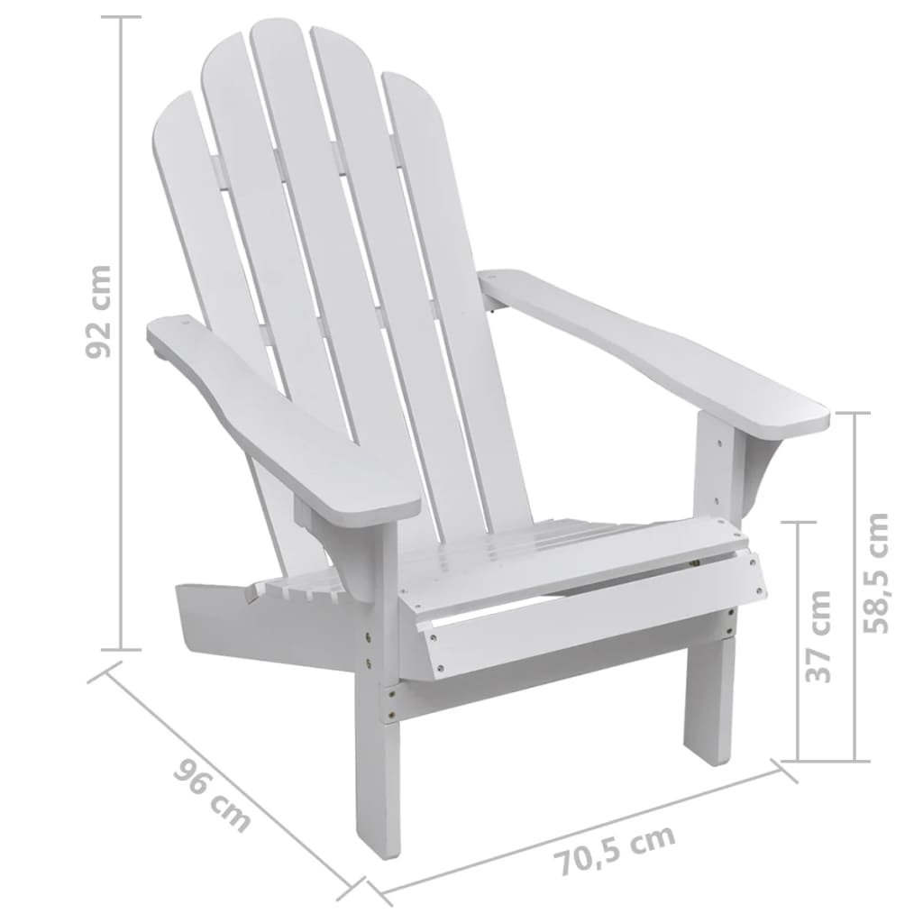 Garden Chair Wood White 5