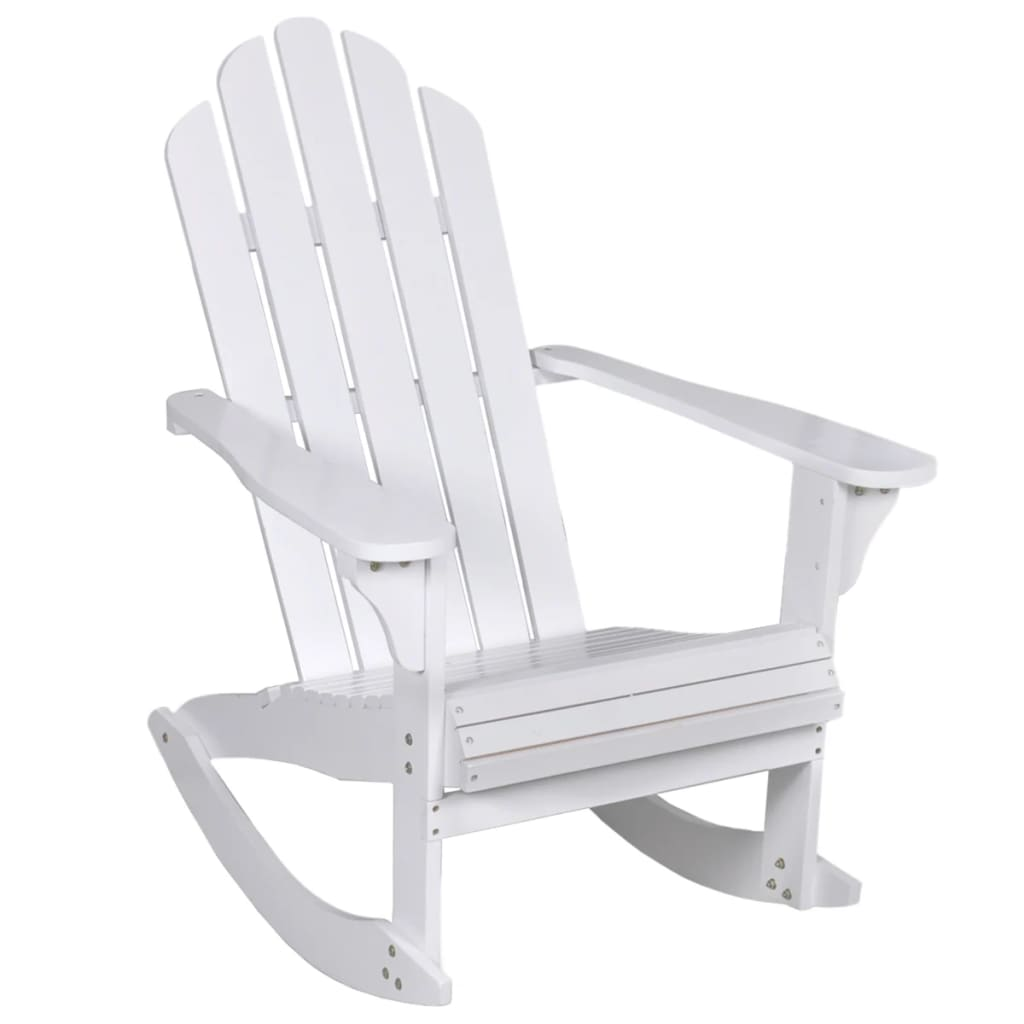 Garden Rocking Chair Wood White 1