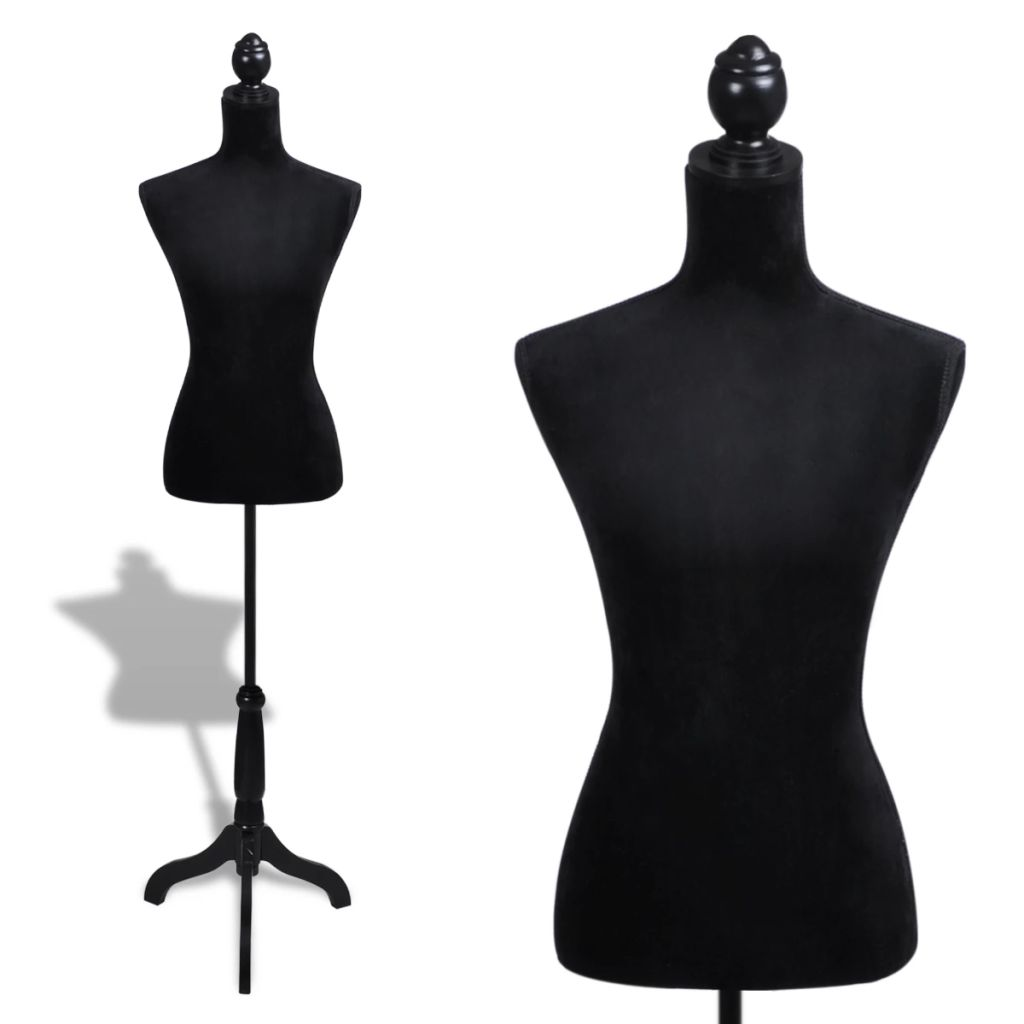 Ladies Bust Display Black Female Mannequin Female Dress Form 1