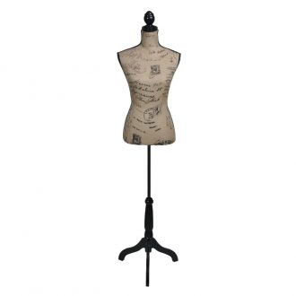 Ladies Bust Display Bust Brown Black Jute Female Mannequin Display 1