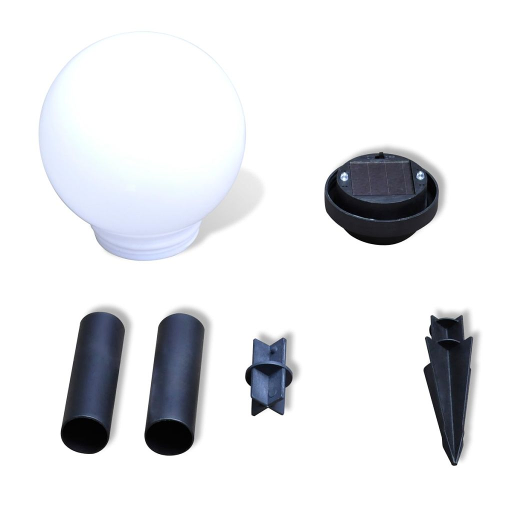 Garden Path Solar Ball Light LED 15cm 4pcs with Ground Spike 5