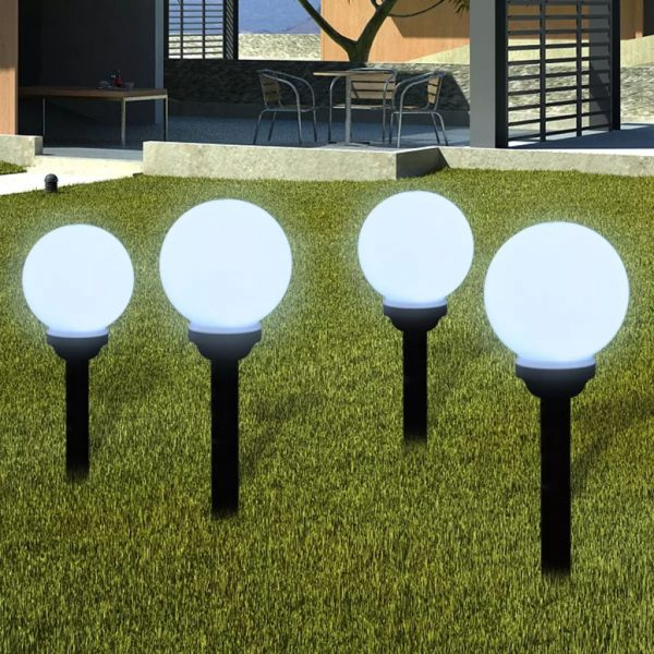 Garden Path Solar Ball Light LED 15cm 4pcs with Ground Spike 1