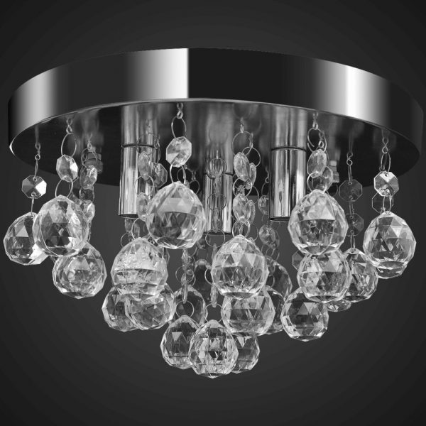Pendant Ceiling Lamp Crystal Design Chandelier Chrome 3
