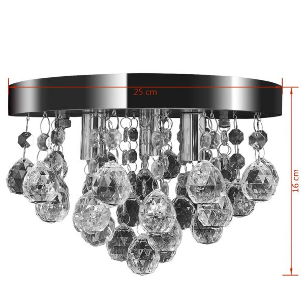 Pendant Ceiling Lamp Crystal Design Chandelier Chrome 7