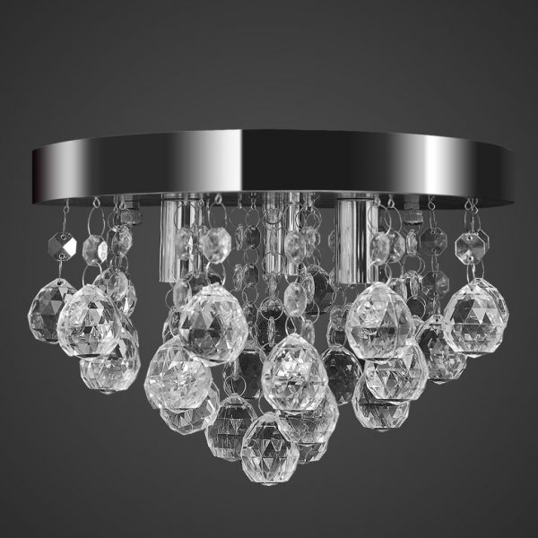 Pendant Ceiling Lamp Crystal Design Chandelier Chrome 1