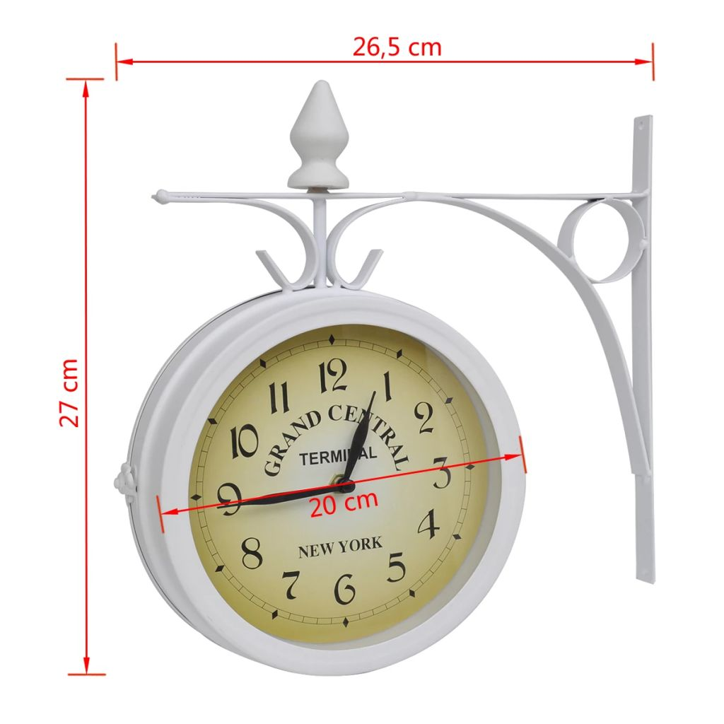 Wall Clock Two-Sided Classic Design 5