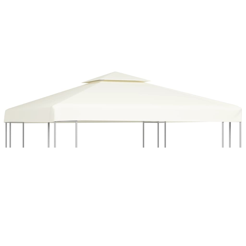 Waterproof Gazebo Cover Canopy 310 g / m² Cream White 3 x 3 m 1