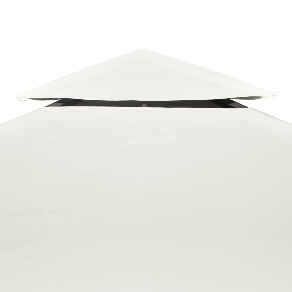 Waterproof Gazebo Cover Canopy 310 g / m² Cream White 3 x 3 m 4