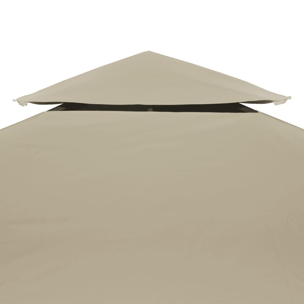 Water-proof Gazebo Cover Canopy Replacement 310 g / m² Beige 3 x 3 m 5