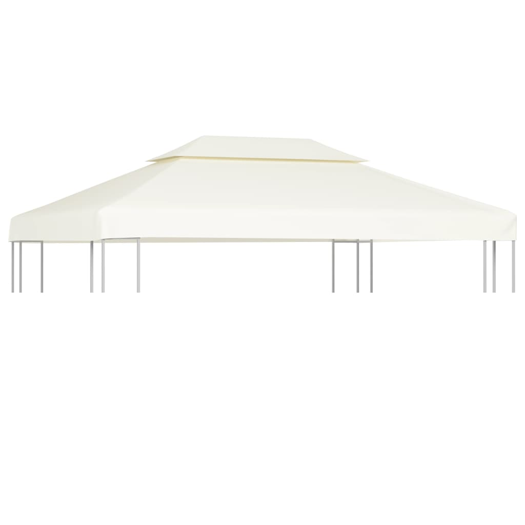 Water-proof Gazebo Cover Canopy 310 g / m²  Cream White 3 x 4 m