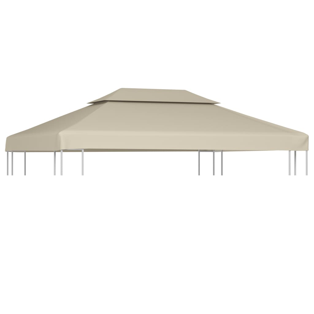 Water-proof Gazebo Cover Canopy Replacement 310 g / m² Beige 3 x 4 m