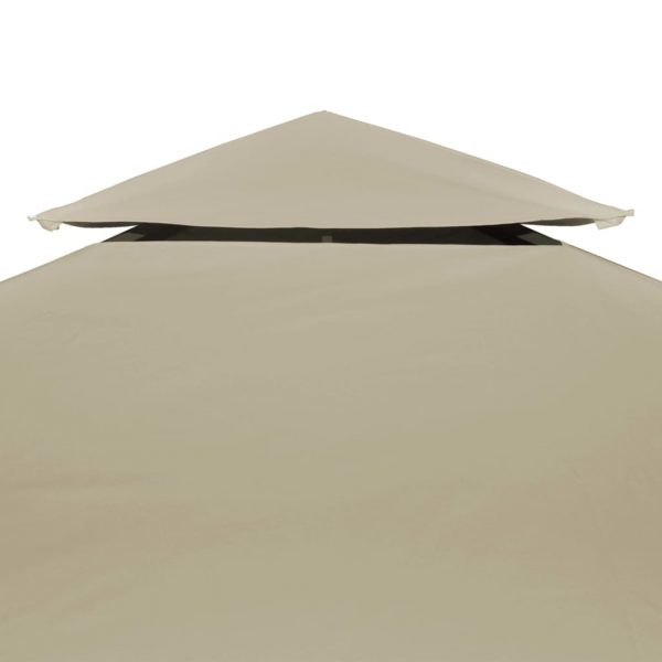 Water-proof Gazebo Cover Canopy Replacement 310 g / m² Beige 3 x 4 m 5